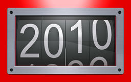 New Year. Stylized counter of new years Stock Image