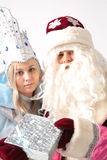 New year. From Santa Claus give gifts Royalty Free Stock Image