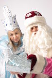 New year. From Santa Claus give gifts Stock Images