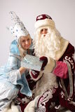 New year. From Santa Claus give gifts Stock Photo