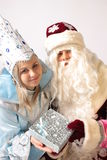New year. From Santa Claus give gifts Royalty Free Stock Photo