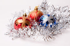 New year. 's toys and decorative Christmas-tree decorations Royalty Free Stock Photography