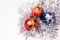 New year. 's toys and decorative Christmas-tree decorations Stock Photo