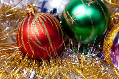 New year. 's toys and decorative Christmas-tree decorations Stock Photography