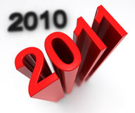 New year. A red new year 2011 arrive now Royalty Free Stock Images