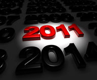 New year. A red new year 2011 arrive now Stock Image