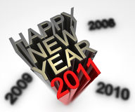 New year. A red new year 2011 arrive now Stock Images