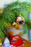 New Year. In the New Year festive Christmas tree embellish every home Royalty Free Stock Photography
