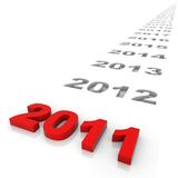 New Year. 2011 and the years ahead. Part of a series Royalty Free Stock Image