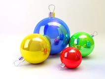 New year. Picture. Beautyfull balls vector illustration
