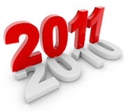 New year. 3d image of the old year new year Royalty Free Stock Photos