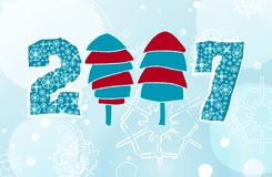 New year. Merry Christmas and Happy New Year Stock Illustration
