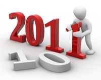 New year. 3D image, a character new year royalty free illustration