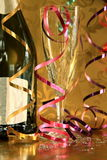 New year 17. Image of New years eve celebration with gold background Royalty Free Stock Photo