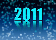 New year. Background of 2011 new years card Royalty Free Stock Photo
