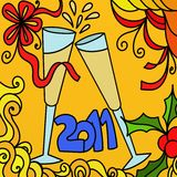 New Year. Abstract illustration with toast New Year Stock Photography