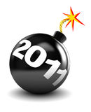 New year. 3d illustration of bomb with 2011 label, new year start concept Stock Image