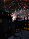 New Year 2. 3d render of New Year 2 Royalty Free Stock Photo