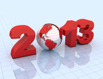 New year 2003 and planet earth Royalty Free Stock Image