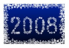 New Year 2008. Vector illustration Royalty Free Stock Images