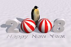 New year 2008. A 3d rendering to celebrate the new year 2008 Royalty Free Stock Photos