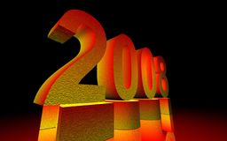 New Year 2008.  Royalty Free Stock Images