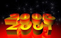 New Year 2008.  Royalty Free Stock Image