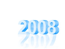 New year 2008 3d. New year 2008, 3d symbol. Computer generated royalty free illustration