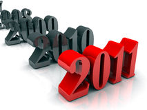 New Year 2008 to 2011 Stock Image