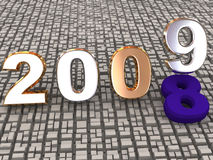 New year 2009. 3d. Illustration Vector Illustration
