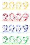 New year 2009. Vector illustration of New year 2009, isolated objects Royalty Free Stock Images