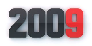 New year 2009. On white background Royalty Free Stock Images