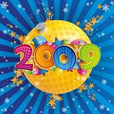 New year 2009. New year eve. Year 2009 stock illustration