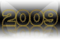 New year 2009. The 2009 New Year in gold-look vector illustration