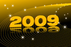 New Year 2009. New year background, 2009 3d text stock illustration