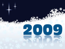 New Year 2009. On a white snow background Royalty Free Stock Photography