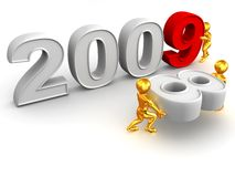 New Year. 2009. Stock Images