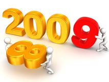 New Year. 2009. 3d Very beautiful three-dimensional illustration royalty free illustration