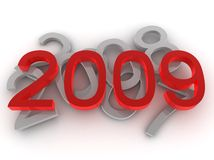 New year 2009. New year concept. 2009 is almost here Stock Images