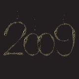 New Year 2009. 2009 composition of champagne bubbles vector illustration