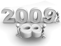 New Year. 2009. 3d Very beautiful three-dimensional illustration, figure vector illustration