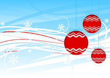 New Year 2009. Red christmas-tree decorations royalty free illustration