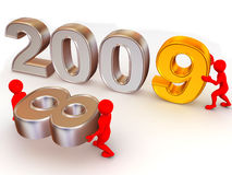 New Year. 2009. 3d Very beautiful three-dimensional illustration, figure stock illustration