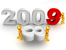 New Year. 2009. 3d Very beautiful three-dimensional illustration, figure Stock Photo