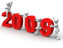 New Year. 2009. 3d Very beautiful three-dimensional illustration, figure Stock Photography
