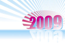 New year 2009. 3D new year 2009 background royalty free illustration
