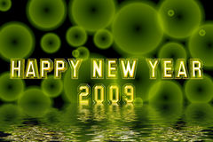 New Year 2009. Computer generated new year background Stock Photography