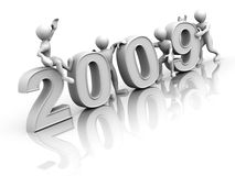 New Year. 2009 Stock Photography