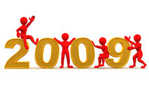 New Year. 2009 Stock Image