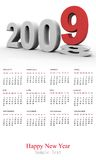 New Year 2009 Calendar Stock Photos